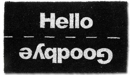 Hello & Goodbye Doormat