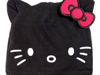 Hello Kitty Black Beanie
