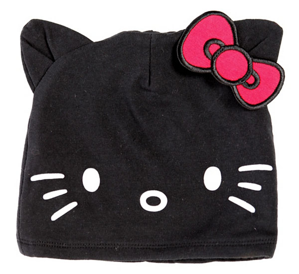 Hello Kitty Black Beanie