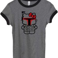 Hello Kitty Boba Fett Star Wars Womens T-Shirt