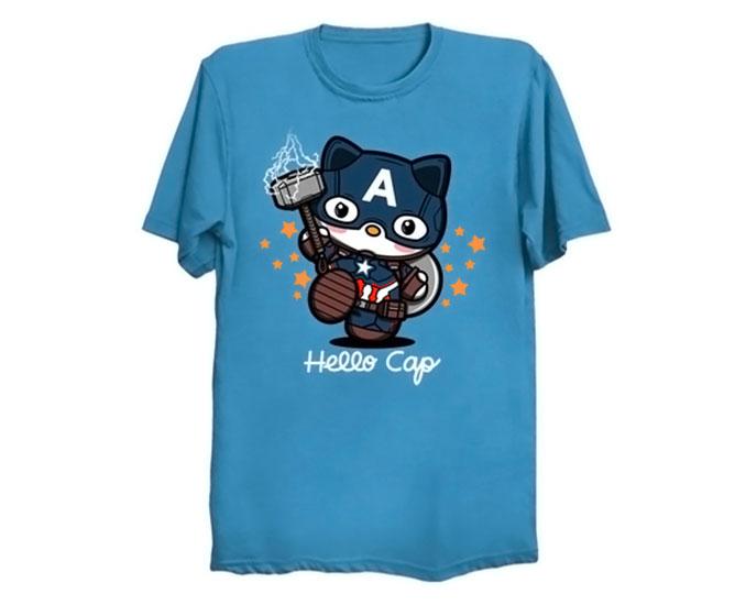 Hello Kitty Captain America T-Shirt