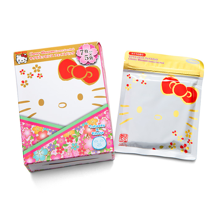 Hello Kitty Cherry Blossom Essence Face Pack (7Sheets X 5Pack)