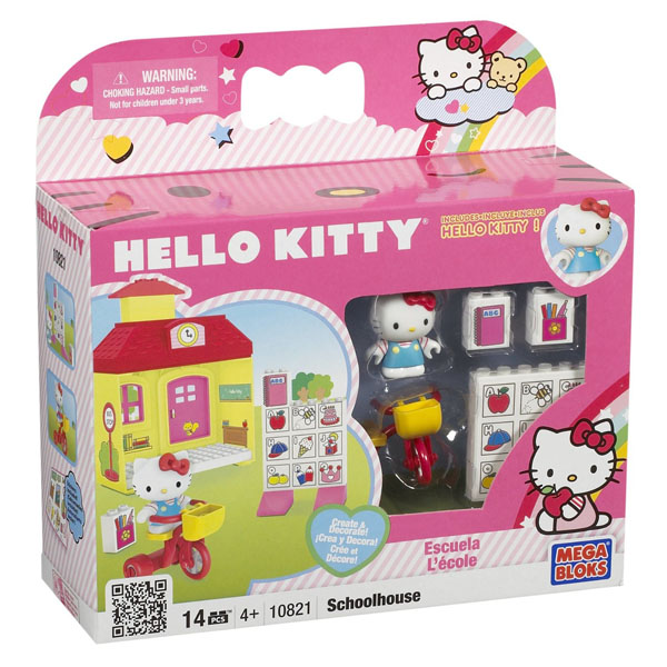 Hello Kitty Toys Set : Hello kitty megabloks school house set