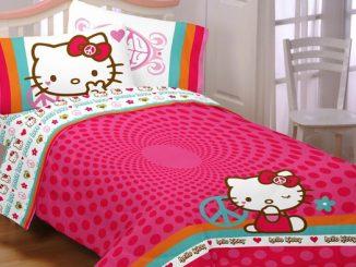 Hello Kitty Peace Kitty Bed Set