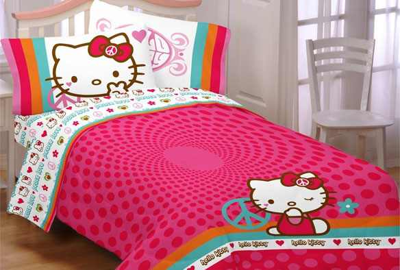 Hello Kitty Peace Kitty Bed Set | GeekAlerts