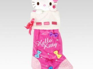 Hello Kitty Plush Pink Christmas Stocking