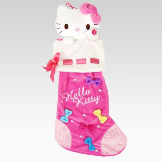 Hello Kitty Plush Pink Christmas Stocking
