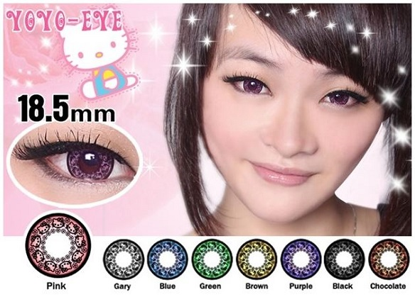 Hello Kitty Princess Contact Lenses Color Choices