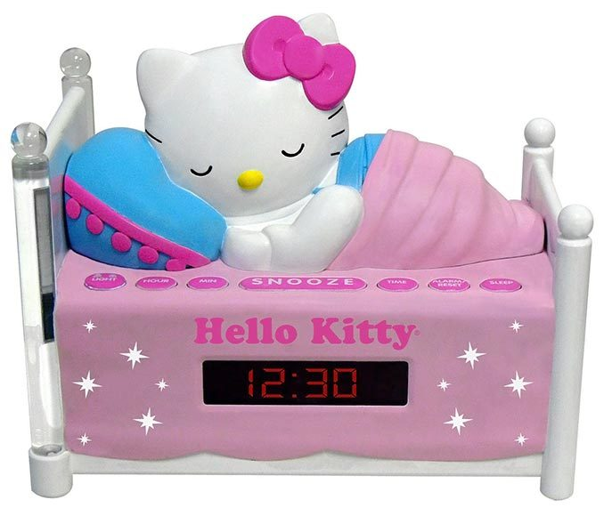 Hello Kitty Radio Alarm Clock With Night Light