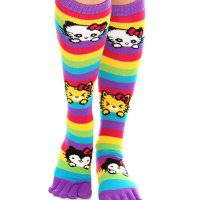 Hello Kitty Rainbow Striped Toe Socks