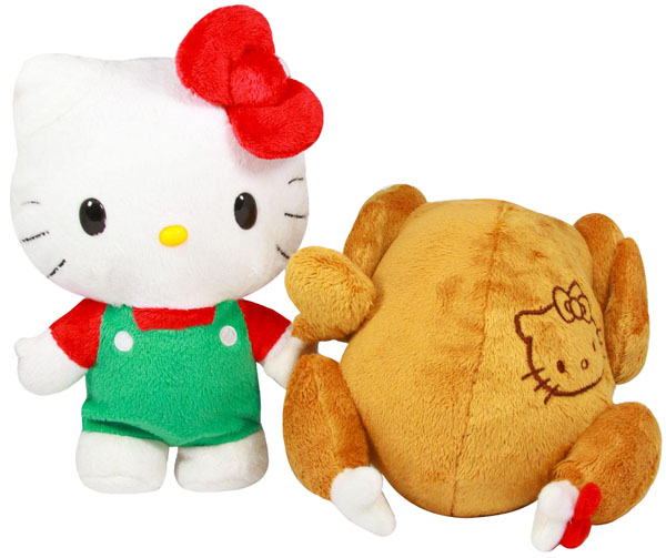 Hello Kitty Stuff Toys : Hello kitty reversible turkey plush toy