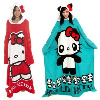Hello Kitty Throw Blankets with Sleeves