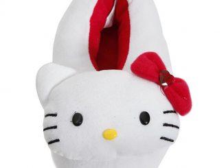 Hello Kitty White Plush Slippers