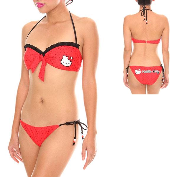 Hello Kitty Wink Polka Dot Bikini