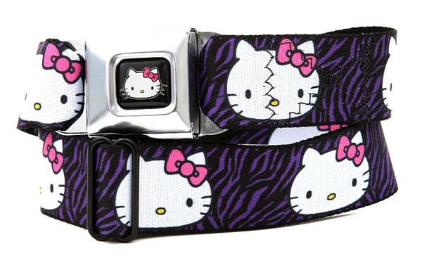 Hello Kitty Zebra Seat Belt Clothing Belt