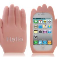 Hello Palm Shaped Silicone Case for iphone 4 4S