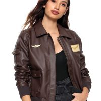 Her Universe Captain Marvel Faux Leather Aviator Jacket