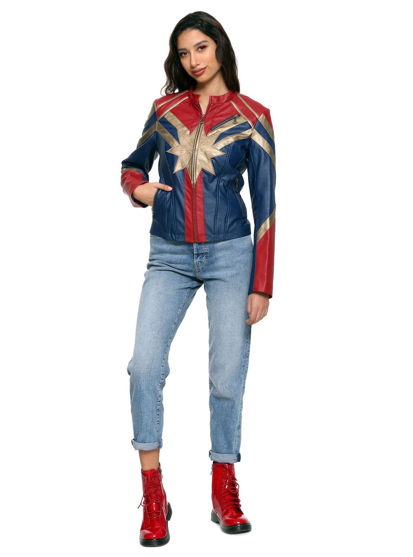 8def029e9a Her Universe Captain Marvel Faux Leather Jacket