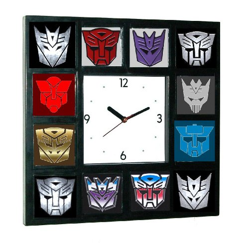 History of Transformers Decepticon and Autobot Clock