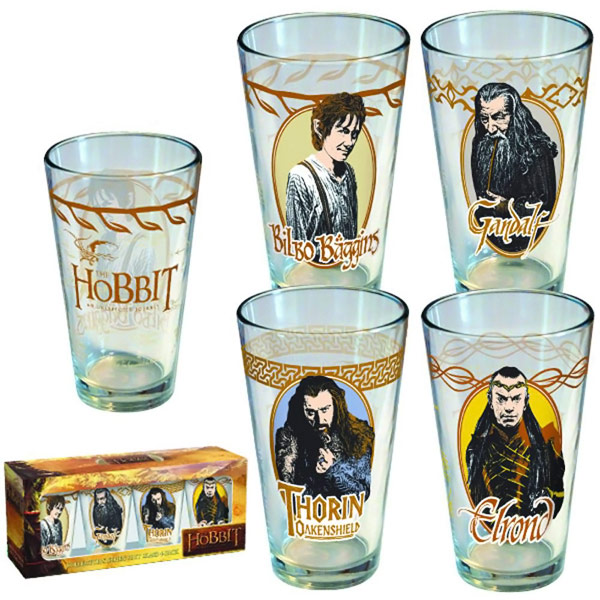 Hobbit Collectors Series Pint Glass 4 Pack