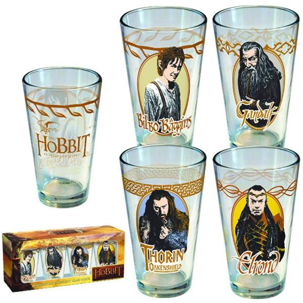 Hobbit Collectors Series Pint Glass 4 Pack