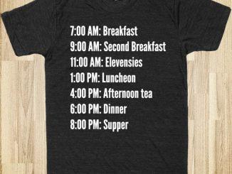 Hobbit Schedule T-Shirt