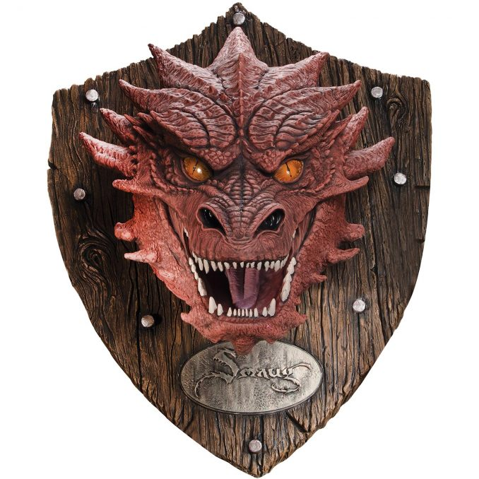 Hobbit Smaug Head Mounted Trophy