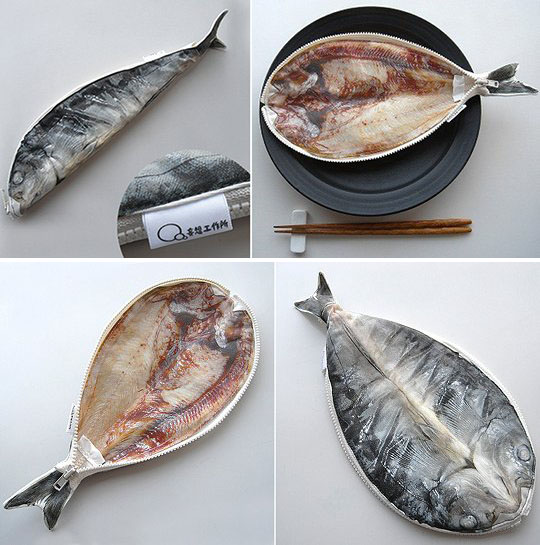 Hokke Mackerel Split Fish Pencil Case