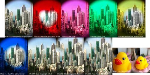 Holga iPhone Lens Filter Kit Samples
