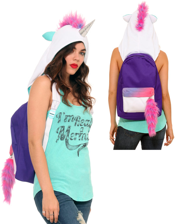 Hooded Unicorn Backpack