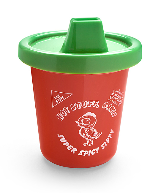 Hot Stuff! Sriracha Sippy Cup