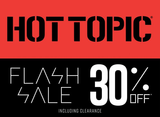 Hot Topic 30 Off Flash Sale