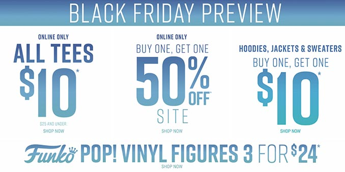 Hot Topic Black Friday Preview Sale