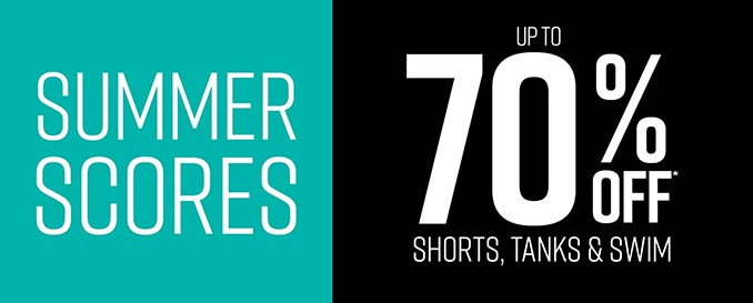 Hot Topic Sale: 70% Off Shorts, Tanks & Swimwear