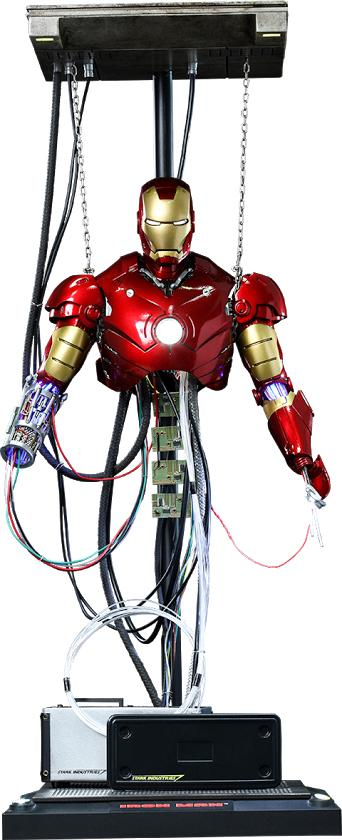 Hot Toys Die Cast Iron Man Mark III (Construction Version) Figure