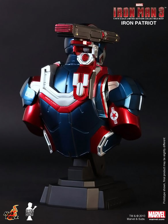 Hot Toys Iron Patriot Collectible Bust