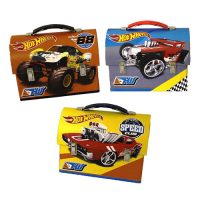 Hot Wheels Large Workman Carry All Tin Lunch Box Set
