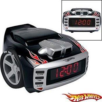 hot wheels snore slammer alarm clock radio. Black Bedroom Furniture Sets. Home Design Ideas