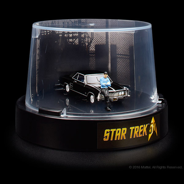 The Hot Wheels Star Trek: '64 Buick Riviera & Spock 1:64 Figure is