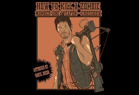 How to Kill A Zombie Use a Crossbow TShirt