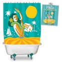Hula Vinyl Shower Curtain