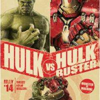Hulk verse Hulkbuster Fight Poster Mural