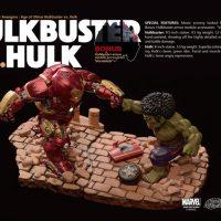 Avengers Hulk vs Hulkbuster Egg Attack Statues