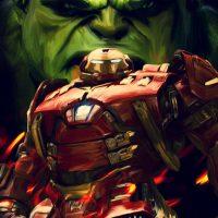 Hulk vs Hulkbuster Poster