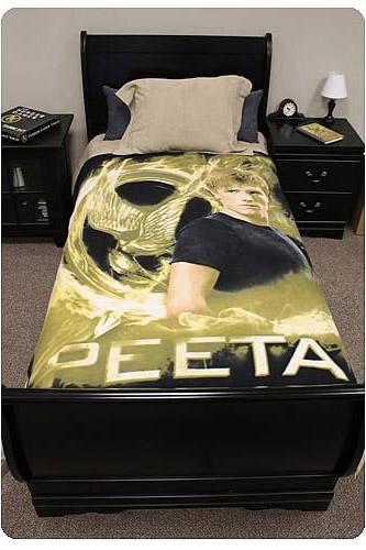 Hunger Games Movie Peeta Mellark Polar Fleece Bed Throw