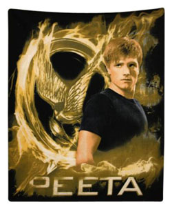 Hunger Games Peeta Mellark Polar Fleece Throw