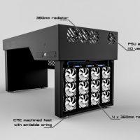 Hydra Computer Case Desk Radiators