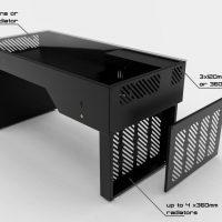 Hydra Desk E ATX PC Case