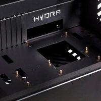 Hydra Glass Aluminum Computer Case Desk