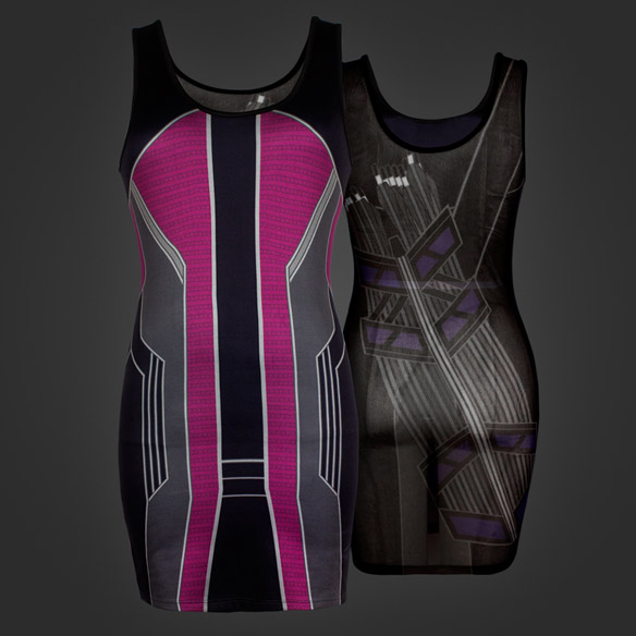 I Am Hawkeye Mesh Back Tunic Tank